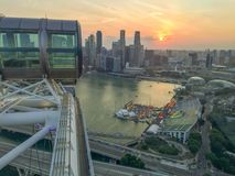 Singapore flyer sunset view Royalty Free Stock Photo