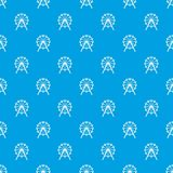 Singapore Flyer, tallest wheel in the world pattern seamless blue. Singapore Flyer, tallest wheel in the world pattern repeat seamless in blue color for any Stock Photos