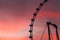 Singapore flyer at twilight Royalty Free Stock Photo