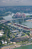 Singapore Flyer, world biggest ferris wheel Stock Photos