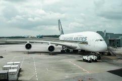 Singapore flygbolag på Changi flygplatsterminal 1 Arkivbilder