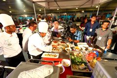 Singapore : Food competition Royalty Free Stock Image