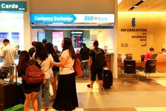 Singapore :Foreign currency exchange Stock Photography
