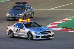 Singapore Formula 1 Safety Cars Royalty Free Stock Photography