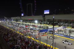 Singapore Formula 1 main raceday Stock Photo