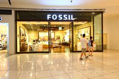 Singapore Fossil retail store Stock Photography