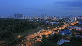 Singapore Freeway Light Trails Time Lapse 1080p Royalty Free Stock Photography