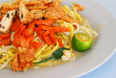 Singapore fried noodles. Singapore local delicacy of fried noodles. Suitable for concepts such as diet and nutrition, healthy lifestyle, and food and beverage royalty free stock photos
