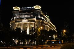 The fullerton hotel royalty free stock images