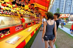 Singapore: Fun fair in the city Royalty Free Stock Photography