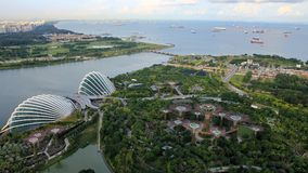 Thailand, Kuala Lumpur and Singapore 2017. Singapore - Garden at the Bay view from the hotel pool May 2017 Royalty Free Stock Photo