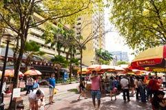 Singapore gatamarknad Arkivbild