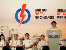 Singapore 2015 General Elections Rally -  Mayor Low Yen Ling Royalty Free Stock Image