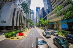 SINGAPORE, SINGAPORE - 30 GENNAIO 2018: Vierw del complesso di costruzione residenziale pubblico del condominio e del centro all' Fotografie Stock Libere da Diritti
