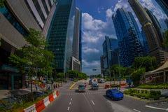 SINGAPORE, SINGAPORE - 30 GENNAIO 2018: Vista del complesso di costruzione residenziale pubblico del condominio e del centro all' Fotografia Stock