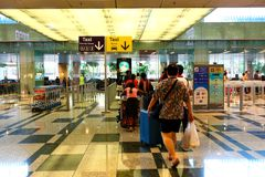 Singapore :Going home Royalty Free Stock Photos