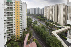 Singapore Government Housing Stock Image