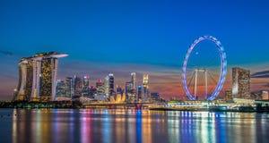 Singapore gränsmärke Arkivbilder
