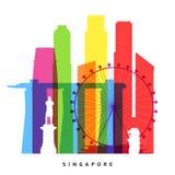 Singapore gränsmärken vektor illustrationer