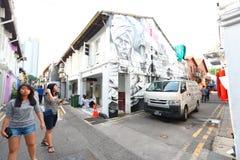Singapore : Graffiti near Haji Lane Royalty Free Stock Photos
