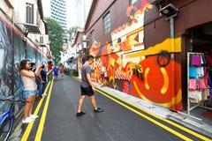 Singapore : Graffiti near Haji Lane. SINGAPORE  : Graffiti on the walls of old buildings near Haji Lane. Haji Lane is the Kampong Glam neighbourhood famous for Royalty Free Stock Photo
