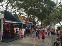 Singapore Grand Prix F1 2015 merchandise stalls. Stock Photography