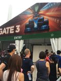 Singapore Grand Prix F1 2015 security entrance by Marina Bay, Singapore Royalty Free Stock Photography