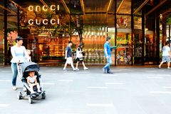 Singapore : Gucci Orchard road Royalty Free Stock Photo
