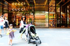 Singapore : Gucci Orchard road Royalty Free Stock Image