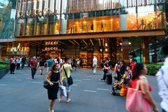 Singapore : Gucci Orchard road Royalty Free Stock Photography