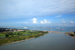 Singapore habor Royalty Free Stock Photo