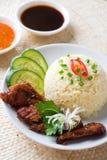 Singapore Hainan chicken rice Stock Photos