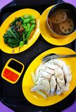 Singapore Hainanese chicken rice street food Royalty Free Stock Photography