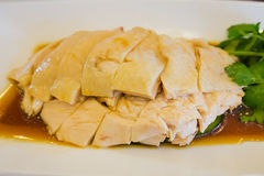 Singapore Hainanese steamed chicken rice Stock Images