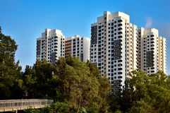 Singapore HDB public housing royalty free stock photos