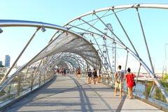 Singapore : Helix bridge Stock Photos
