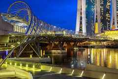 Singapore Helix Bridge Royalty Free Stock Image