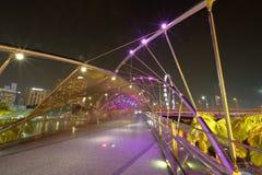 Singapore : Helix bridge Royalty Free Stock Photography
