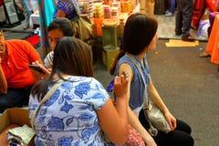 Singapore Henna Painting stock afbeelding