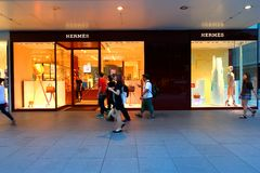 Singapore: Hermes Fotografie Stock Libere da Diritti