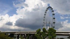 SINGAPORE: Het wiel van de vliegerferris van Singapore in Singapore stock videobeelden