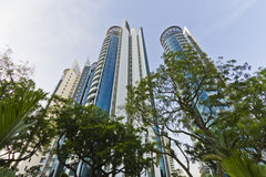 Singapore High Rises. Example of modern residential apartments now the norm in Singapore Royalty Free Stock Images