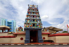 Singapore. Hindu Temple Sri Mariamman . Stock Photo