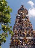 Singapore - hinduiskt tempel Arkivfoton