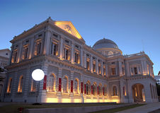 Singapore History Museum At Evening Royalty Free Stock Images