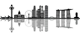 singapore horisont stock illustrationer