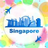 singapore horisont vektor illustrationer