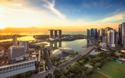 singapore horisont Affär för Singapore ` s royaltyfria foton