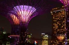 Singapore horisont Marina Bay Arkivfoto