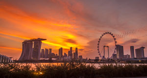 Singapore Hot Sunset Royalty Free Stock Image